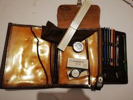 Командирский набор планшет курвиметр компас логарифмическая линейка