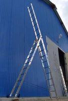 Новая 9.5 метровая лестница стремянка 3x12 ступеней NEW KRAFT Germany