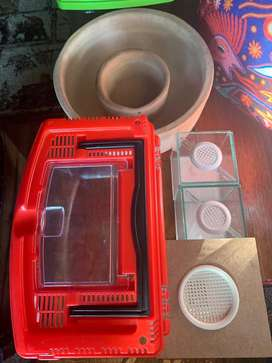 Water dishes heat pads