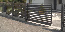 Nowoczesne ogrodzenie metalowe, panelowe brama furtka przęsło słupek