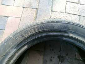 Continental 205/55 R17 good condition second hand tyre for sale.