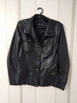 Кожаная куртка чёрного цвета, пиджак, ветровка, косуха, кожанка 46-48