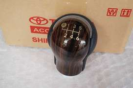 Genuine TOYOTA HILUX REVO WOOD GEAR Shift Knob FOR MANUAL 6 SPEED.