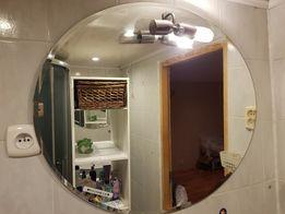 Duze lustro łazienkowe z lampką