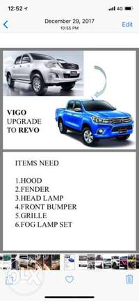 toyota HILUX upgrade Facelift to 2017 REVO 0