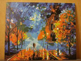 """Готовая картина по номерам """"Осень"""""""