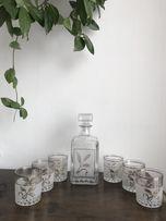 Decover Italy Alighieri 8 el karafka zdobiona szklanki włoskie szkło
