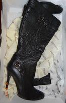 Сапоги кожаные весна-осень, 38р, burmaniі.