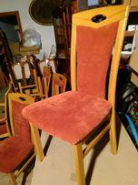 Krzesła tapicerowane 7 sztuk komplet