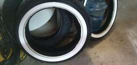 Used Dunlop 401 Harley white wall tires