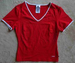 Koszulka damska czerowna Adidas