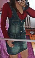 NOWA sukienka dżinsowa jeansowa ogrodniczki na ramiączkach ogrodniczka