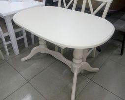 Овальный 120см\160см стол раскладной деревянный