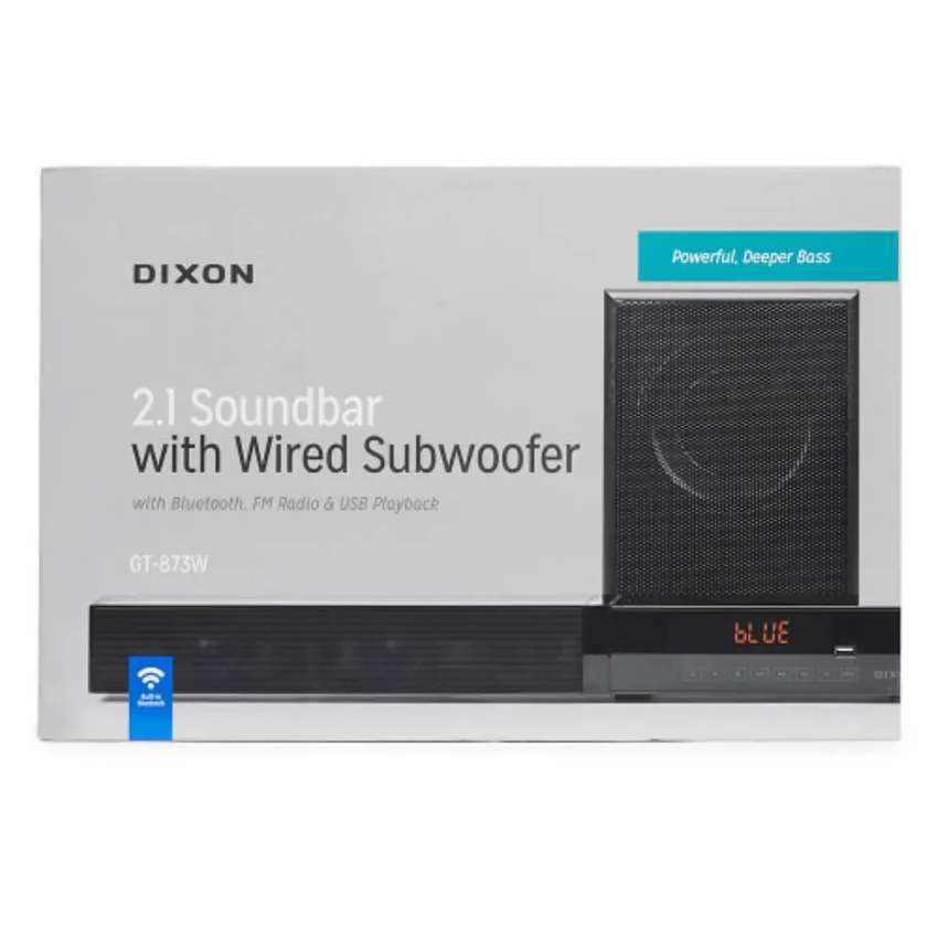 Dixon 2.1 channel Sound Bar with Wired Subwoofer