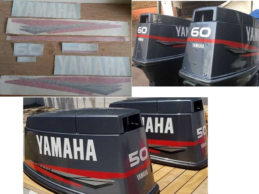 Yamaha 60 outboard motor decals stickers kits
