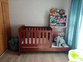 Baby cot, compactum and additional compartments