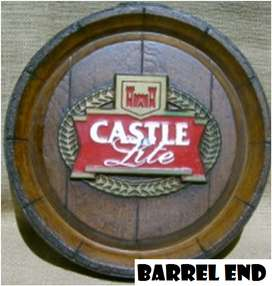 Castle Lite Classic Logo Barrel Ends Brand New Products.