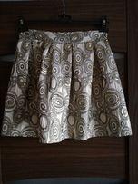 złota spódnica S prążki