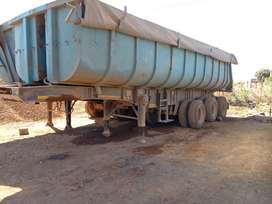 30 Cube Paramount Triaxle Slopper back Tipper Trailer for sale