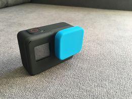 Osłonka niebieska/czarna na obudowe/obiektyw GoPro Hero 5, 6, 7