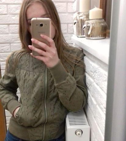 Kurtka bomberka ażurowa krótka khaki Przemyśl - image 4