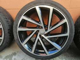 """Audi s3 19"""" mags with tires"""