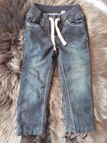 Spodnie jeansowe ocieplane rozmiar 92 nowe
