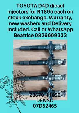 Toyota Hilux d4d diesel injector for sale