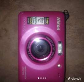 Pink Nikon Coolpix Underwater camera