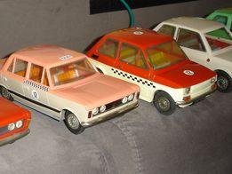 Fiat 125p 126p TAXI kalkomania CZZ stara zabawka samochod na naped