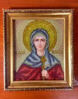 Икона вышитая бисером Святая Мученица Дарья