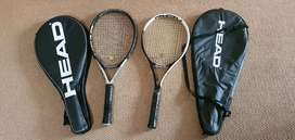 Head Racquets with covers (2)