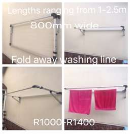 Fold down washing line