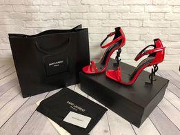 Женские кожаные босоножки Saint Laurent Chanel Louis Vuitton fendi