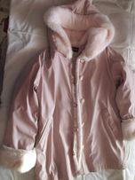 Зимняя женская розовая куртка