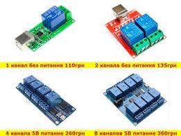 USB реле 2 4 8 каналов управление питанием POWER резет для ферм RESET