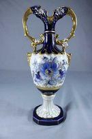 Kobaltowa amfora, wazon Royal Dux