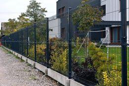 Kompletne ogrodzenie panelowe z podmurówką - 150cm wys. ocynk + kolor