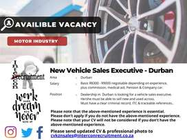 New Vehicle Sales Executive - Durban