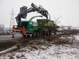 Usługi rębakiem, rozdrabnianie drzewa, rozdrabnianie gałęzi, zżyny