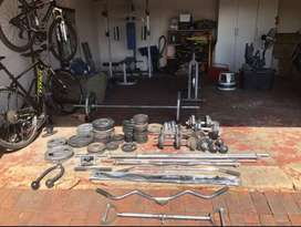 Complete Home gym, weights & equipment
