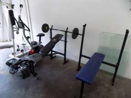 GYM ALL IN ONE AND BENCHES FOR SALE