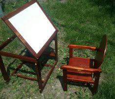 Детский стульчик и стол для кормления и рисования Geoby