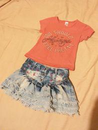 Юбка джинсовая и футболка