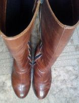 Сапоги кожаные весенние 39р, 900 руб