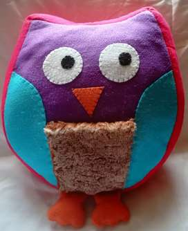 Gorgeous Soft Colourful Owl Toy/Pillow/Decoration