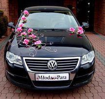 Dekoracja samochodu ozdoby na auto do ślubu róże wysyłka cała Polska