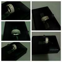 Image of Silver & crystals ring for sale