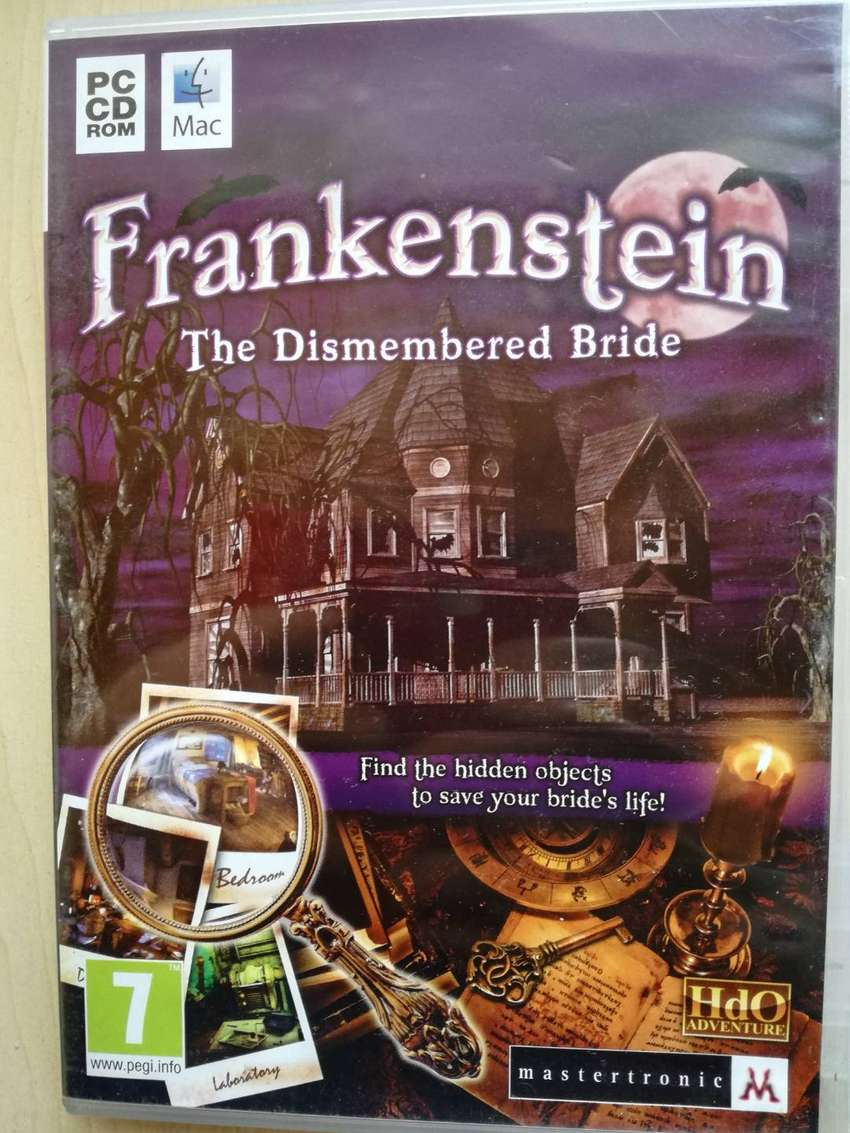 PC CD ROM MAC GAME FRANKENSTEIN: THE DISMEMBERED BRIDE 0