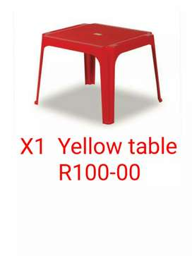 Toddler table yellow